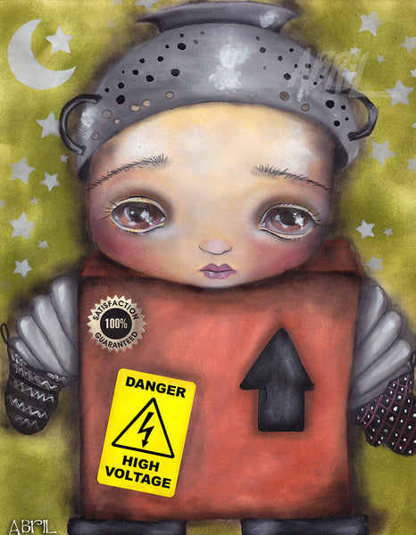 "Little Robot - 8x10"" Signed - Print"