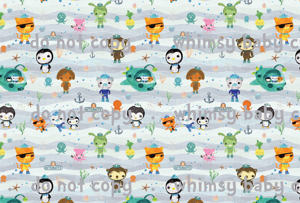 Fabric Octonauts ON VARIOUS BASES