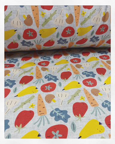 Fabric Veggies on Cotton Lycra