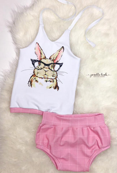 432 Hipster Bunny with Glasses Child Panel