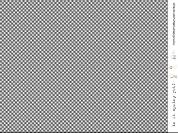 Black Grey Gingham on Woven