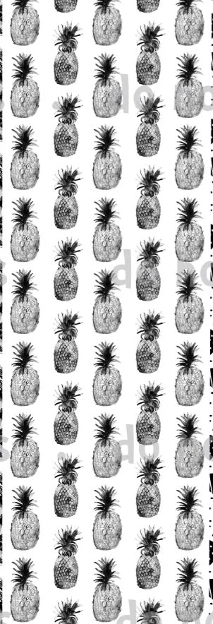 International - Monochrome Pineapples black on white