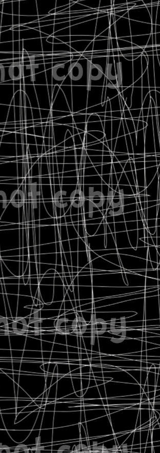 Monochrome Scribble White Lines on Black
