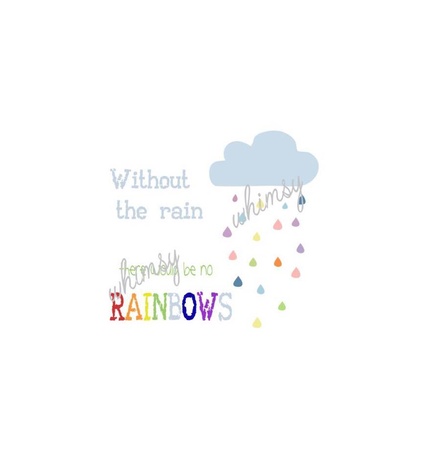 616 Without The Rain There Would Be No Rainbows Child Panel