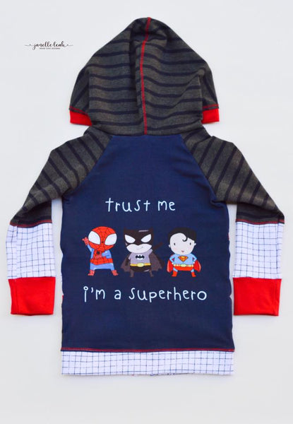 736 Trust Me I'm a Super Hero Child Panel on Navy