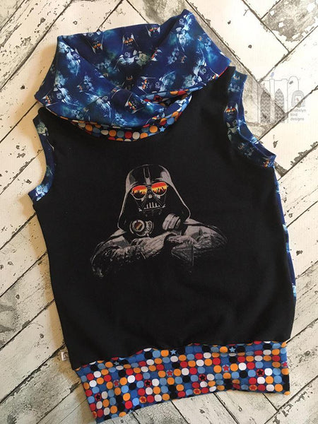 A1080 Hipster Darth Vader w/Glasses Adult/Romper Panel