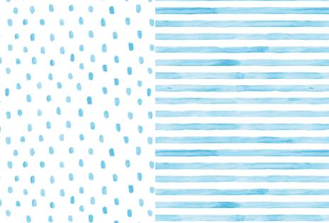Light Blue Stripes and Dots