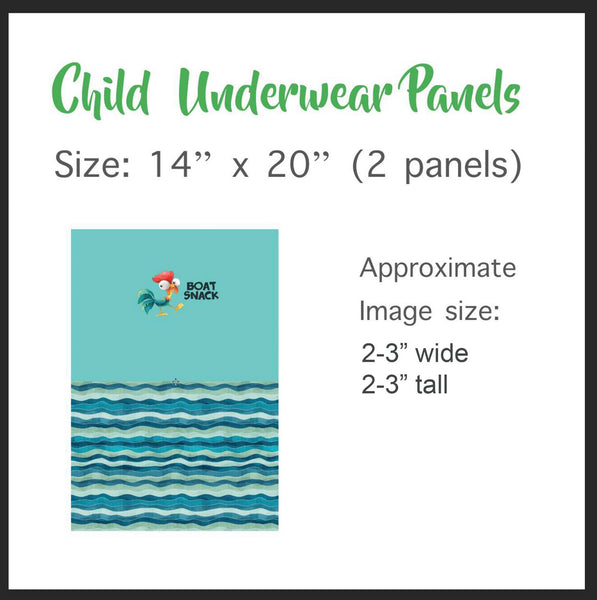 UC033B Boy Children's Underwear Panel (Bamboo) - Sunday