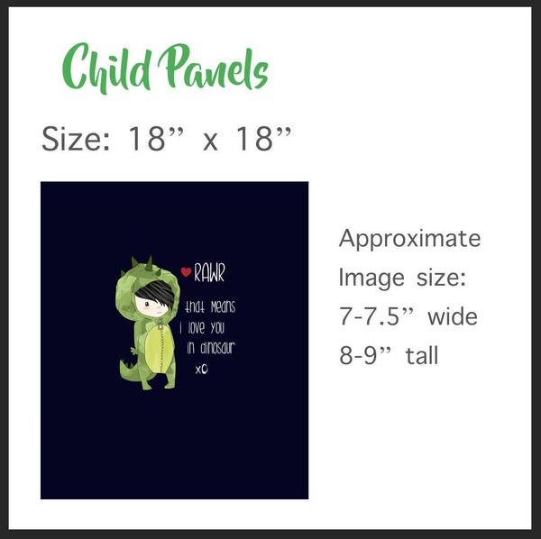 795 Hungry Caterpillar LOVE Child Panel