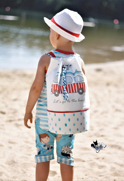 N757 A Perfect Day At The Beach - Girl in a Floaty Child Panel