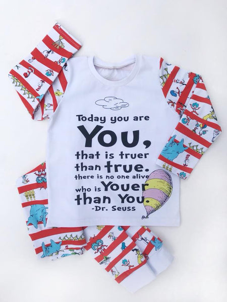 Seuss Today You are You Child Panel (on Heather Grey)