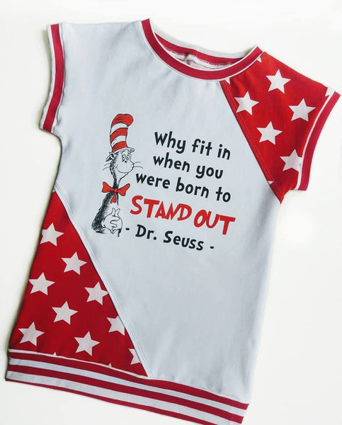 C068  Child Panel Seuss Why Fit In When Your Were Born to Stand Out on White