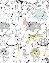 Colour Changing Fabric - Safari animals