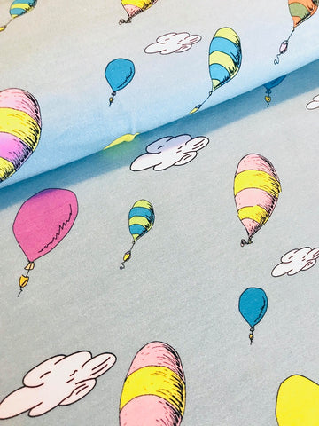 Seuss Oh The Places You'll Go Balloons Coordinates Fabric