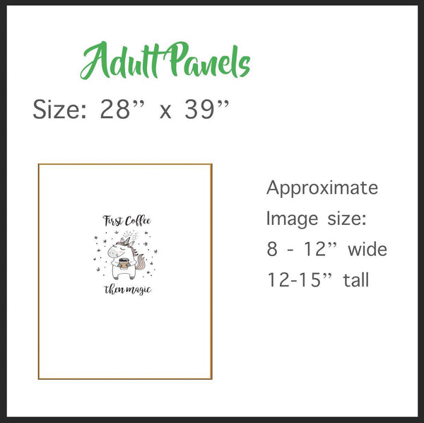 1131 But First Tea Adult/Romper Panel