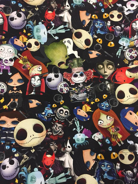 Fabric Nightmare Before Christmas, Corpse Bride, and Coraline