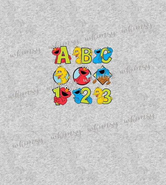 International - Child Panel Sesame Street ABC 123 on Heather