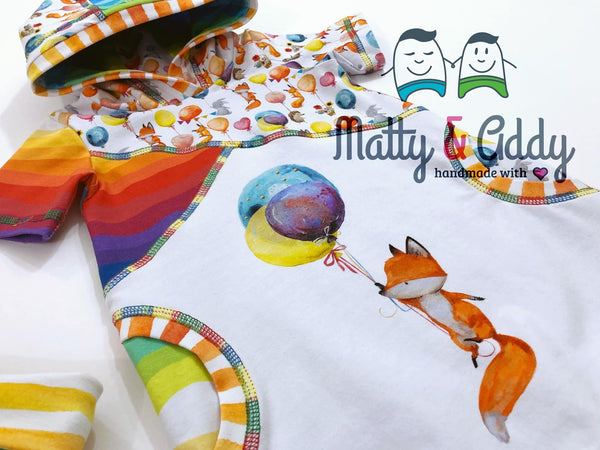 International - Rapport Watercolour Fox Balloons