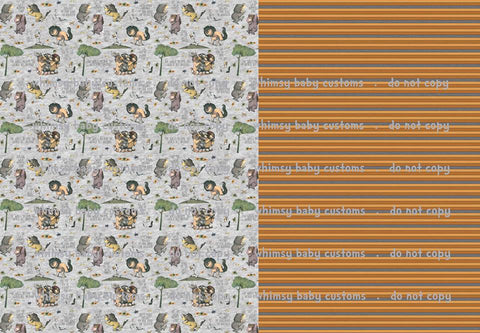 International - Fabric Wild Things HALF and HALF on HEATHER
