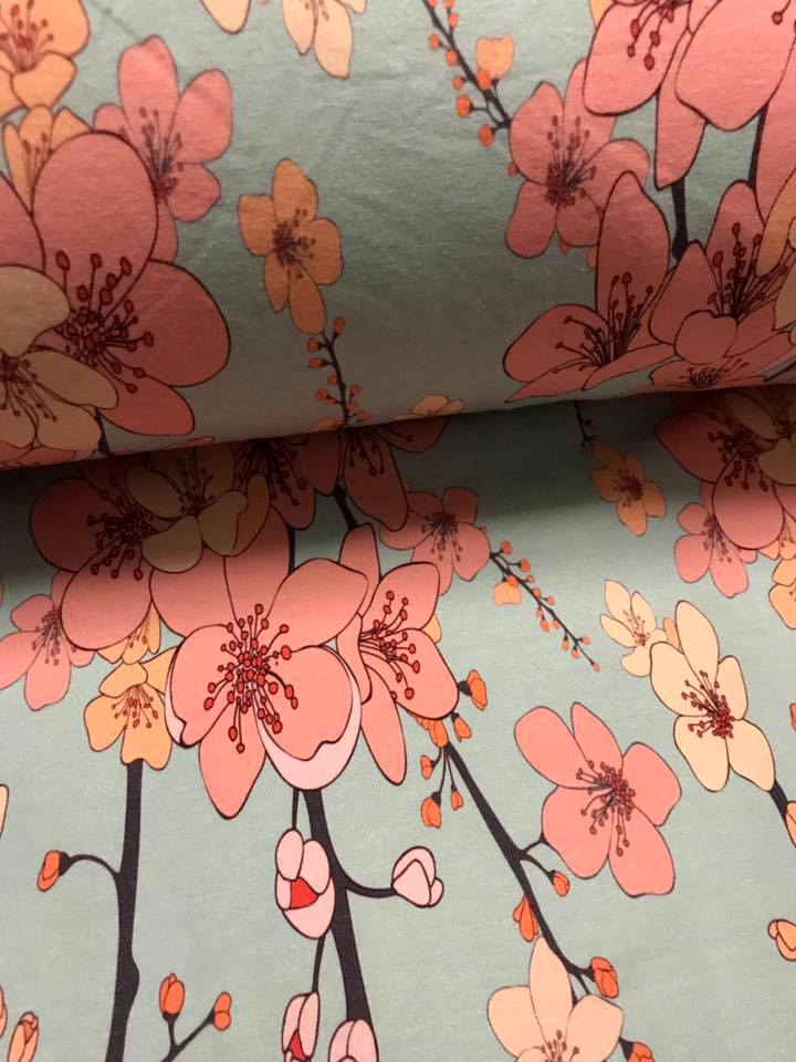 Pink Flowers Fabric