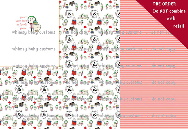 International - Rapport Sarah and Duck Favorite Person Red/pink Stripes