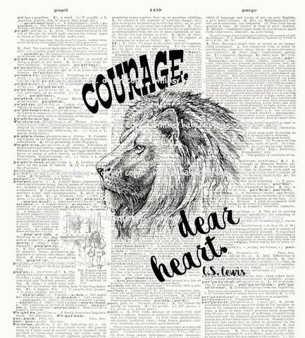 March Preorder - Adult/Romper Panel Narnia Aslan - Courage Dear Heart