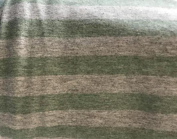 International - Fabric Heather Stripes Seafoam