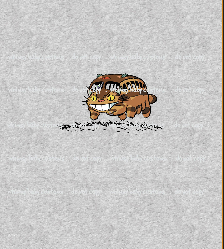 C095 Child Panel Catbus on Heather Grey