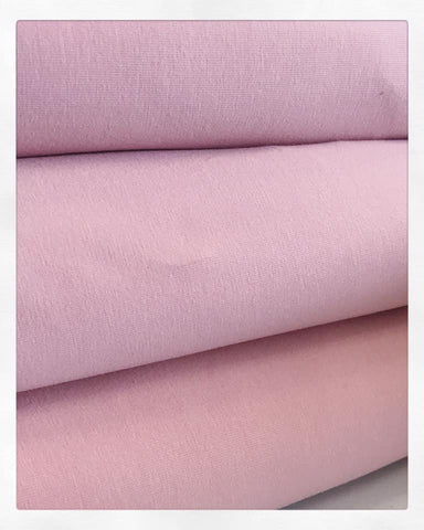 Solid Dusty Rose Cotton Lycra - 2 m Bundle
