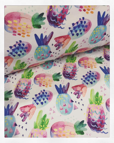 Fabric Watercolour Pineapples