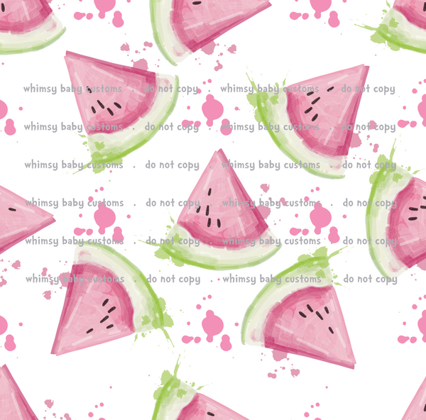 Fabric Itty Bitty Watercolor Watermelons