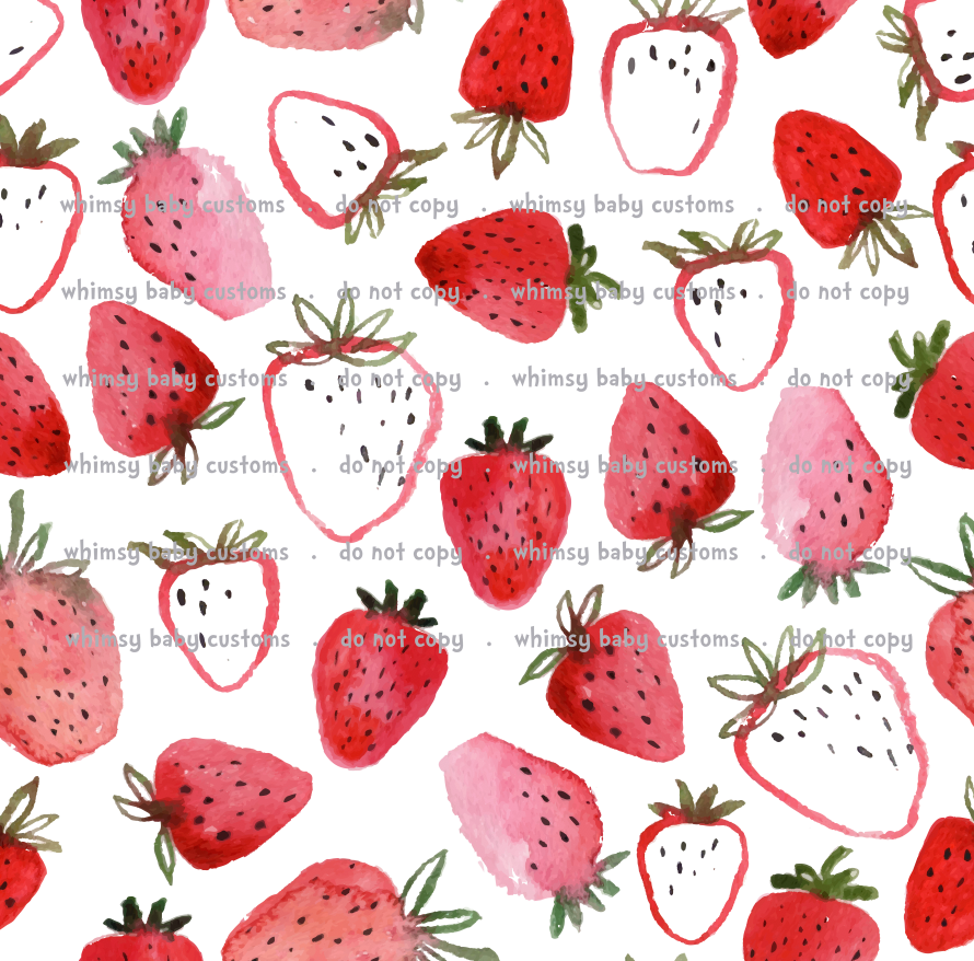 International - Fabric Itty Bitty Strawberries