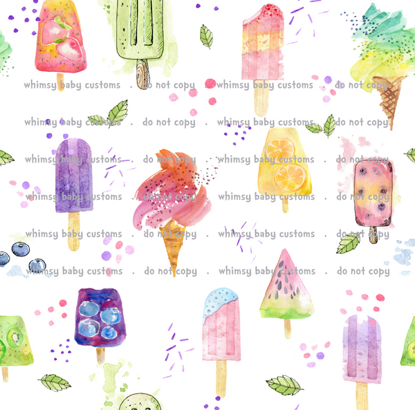 Fabric Itty Bitty Watercolor Popsicles