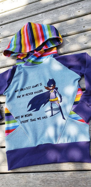 737 Batgirl With a Quote Child Panel