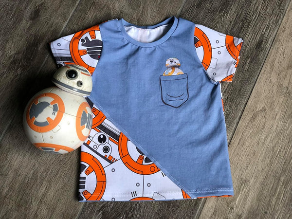 International - Child Panel BB8 in a Pocket on Heather Grey