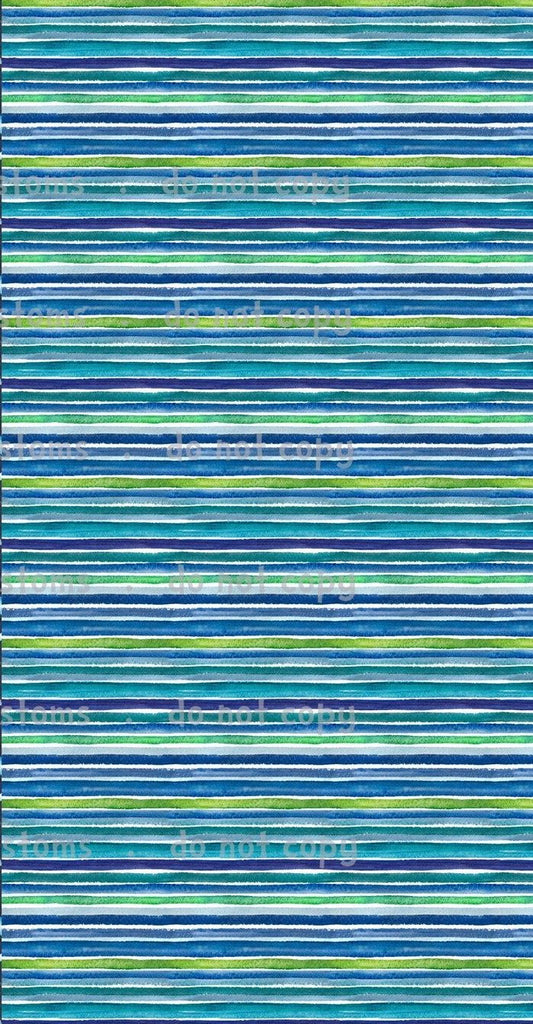 International  - Fabric Pastel Boy Rainbow Stripes