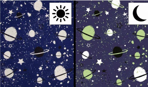 Color Changing Preorder Jan 2020 - Outer Space Glow in the Dark Fabric