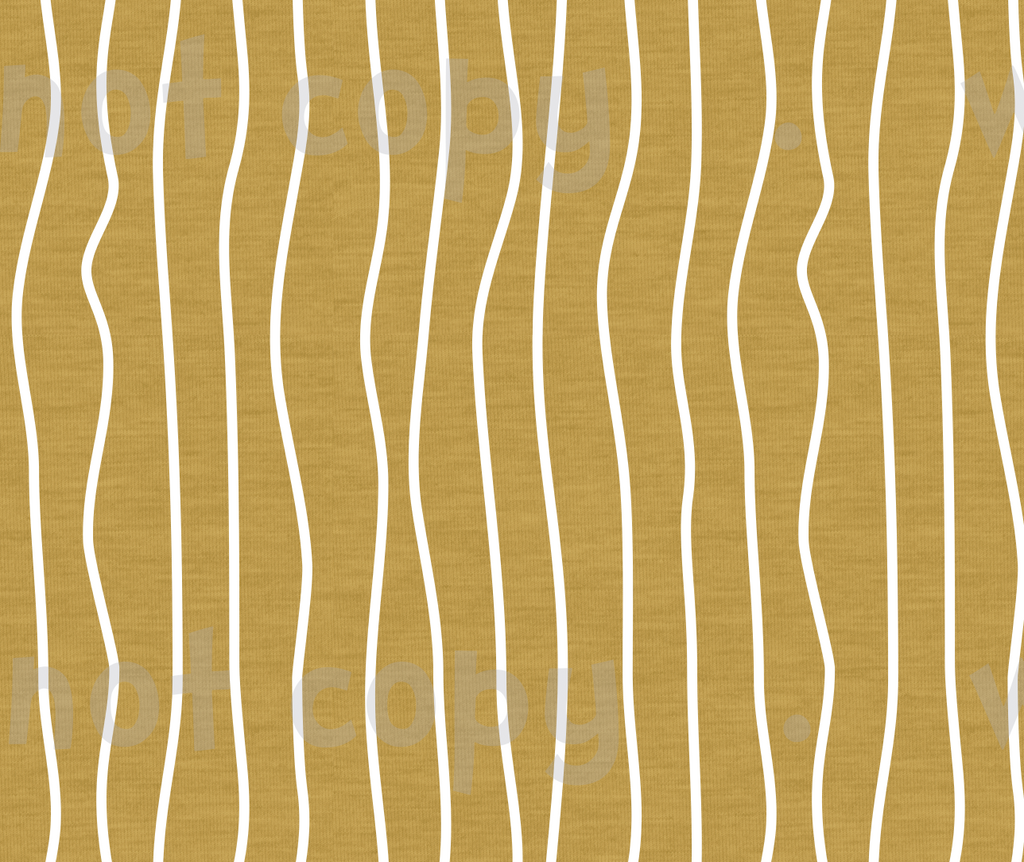 International - Fabric Wonky Stripes on Mustard