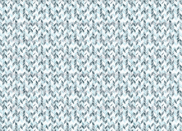 Fabric- Frozen Geometric Ice Crystals Coordinate