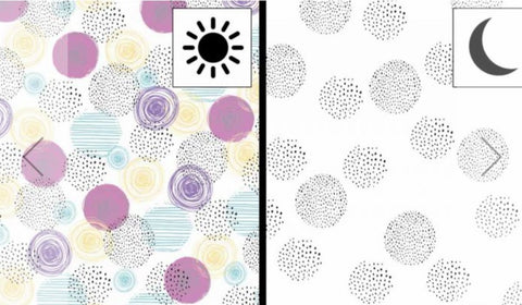 Color Changing Preorder Jan 2020 - Circles Color Change Fabric
