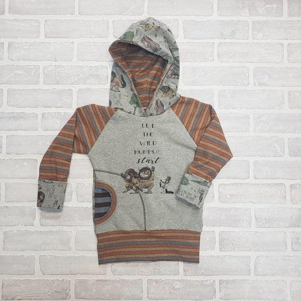 A1137H Adult/Romper Panel Wild Things: Let the Wild Rumpus Start - on Heather Grey