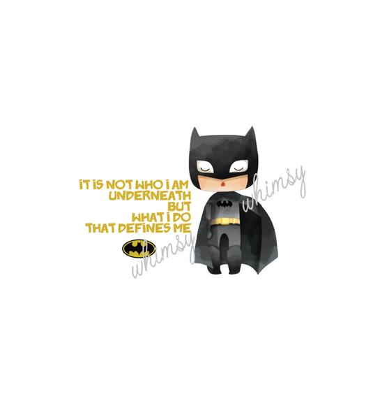 322 Batman With Quote Panel