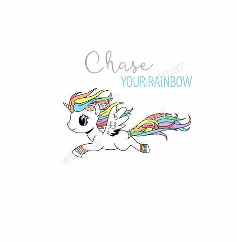 International - Chase Your Rainbow Unicorn Child Panel