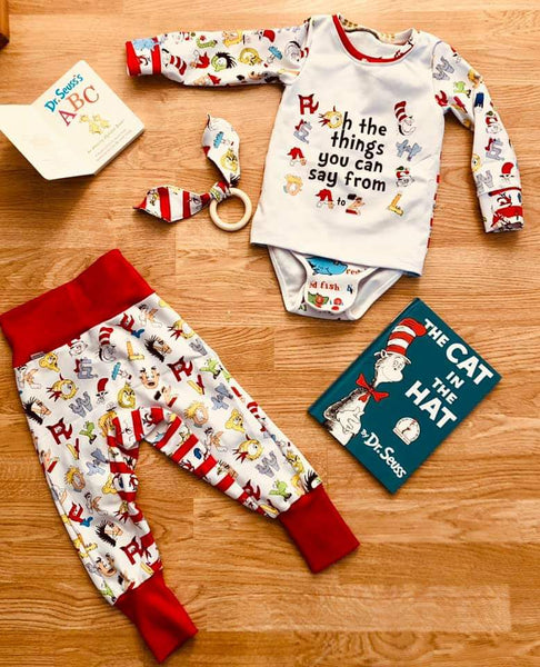 July/Aug 2020 Preorder - Fabric Dr. Seuss Alphabet ON VARIOUS BASES
