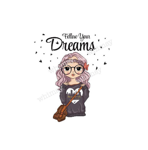 354 Follow Your Dreams Girl with Glasses Child Panel