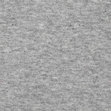 Heathered Grey Cotton Lycra Solid Fabric - 1 m