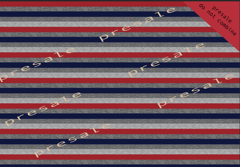 PUP PATROL RED, NAVY AND HEATHER STRIPES CL