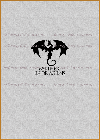 International - Adult/Romper Panel Game of Thrones Mother of Dragons on HEATHER