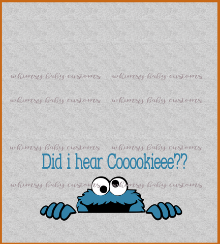 International - Child Panel Sesame Street Cookie Monster Did I Hear Cookie?? on Heather