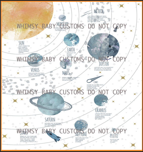 887 Child Panel Full Solar System (Watercolour)